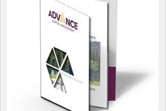 Advance Capital Die Cut Pocket Folder Booklet