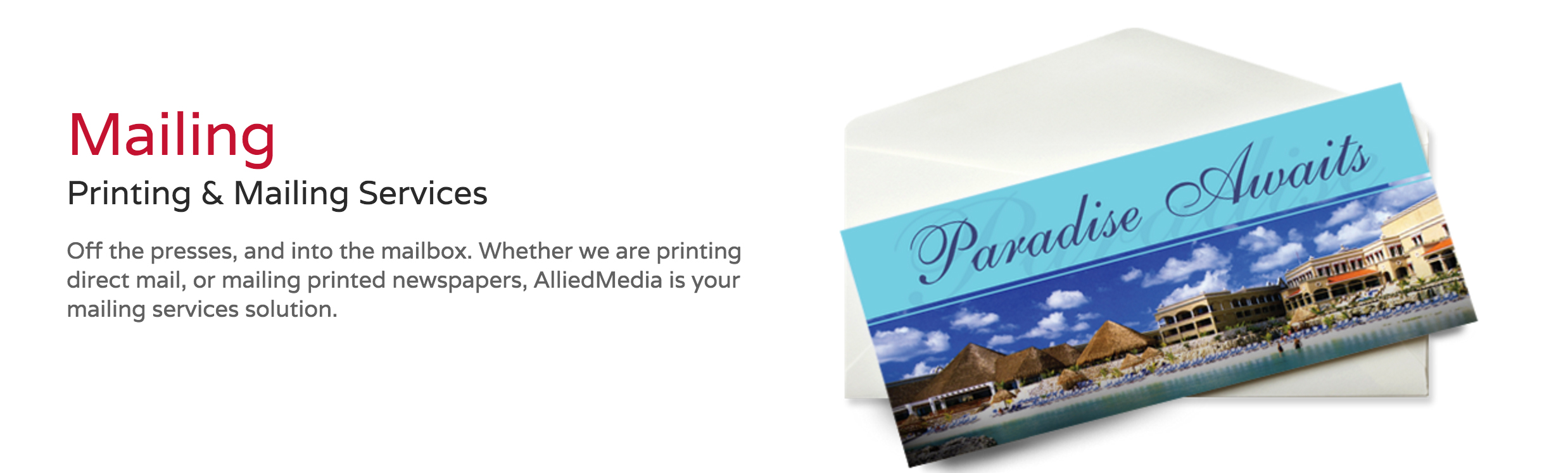Full color printing and mailing services