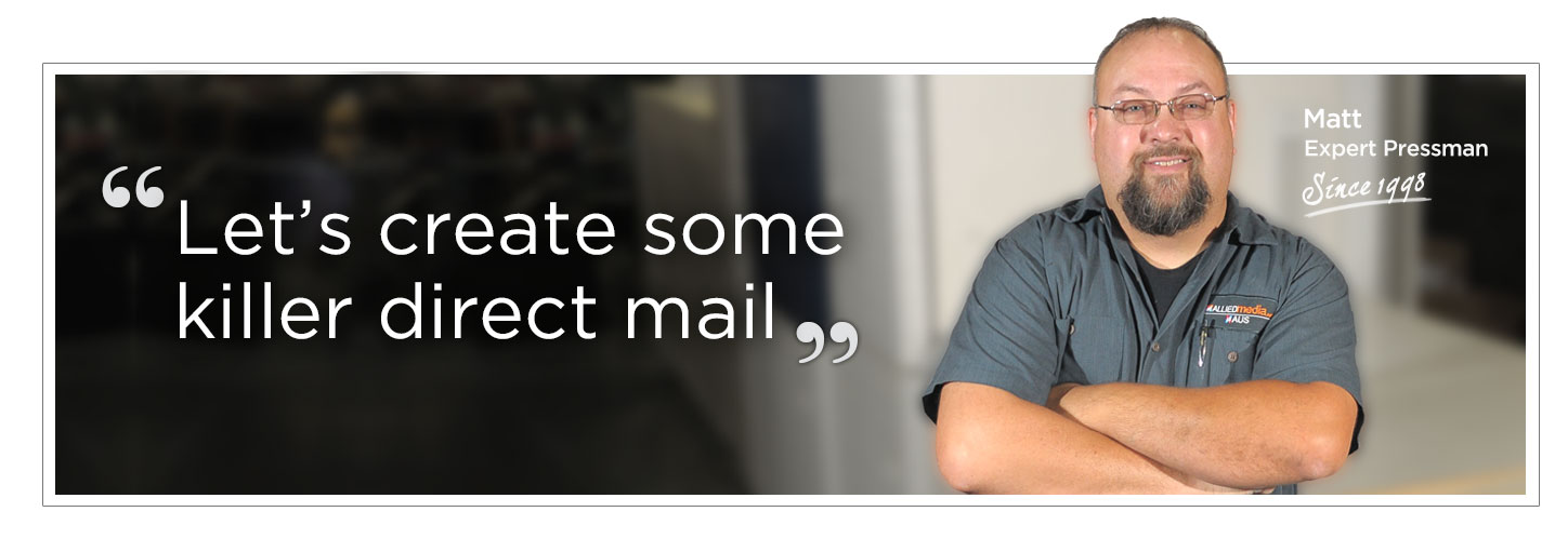 Direct Mail is easy with AlliedMedia! We can Design, Print and Mail your next message.