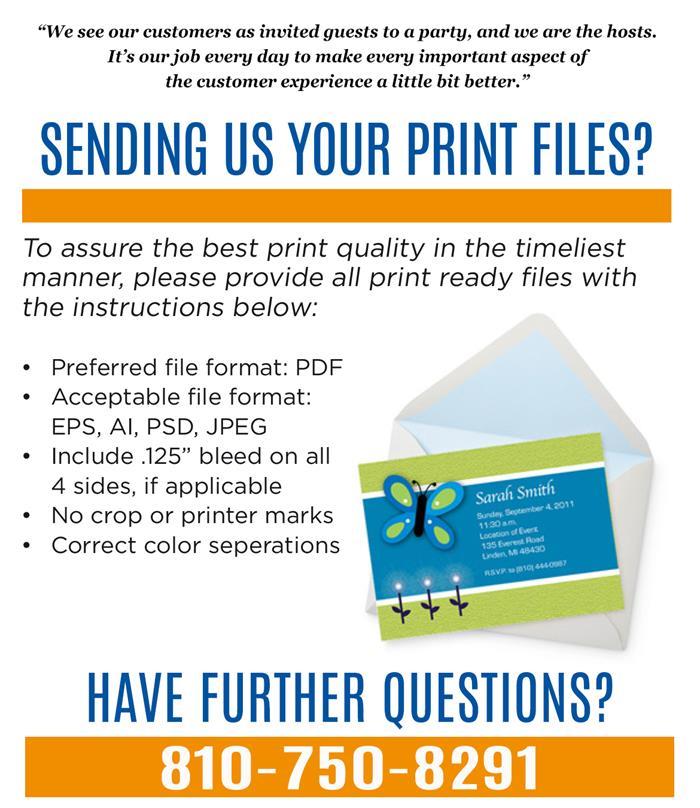 Sending us your print files?